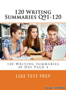 Writing Summaries Q91-120 120 Writing Summaries 30 Day Pack 4