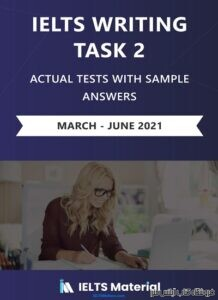 IELTS Actual Writing Task 2 (Academic) March – June 2021
